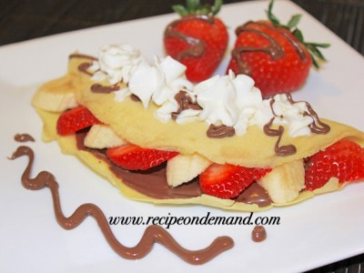 Crepes With Neutella N Fruits