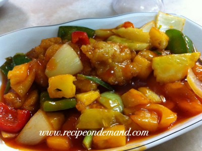 Crispy Fish In Sriracha Sauce with Vegetables