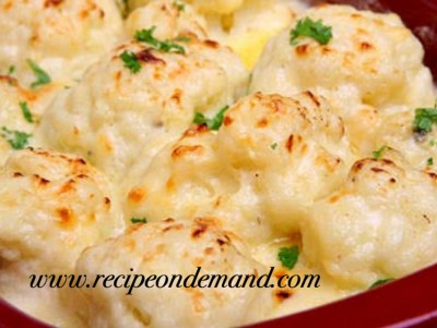 Baked Cheesy Cauliflower Casserole