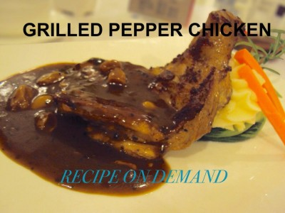 Chicken Roast In Pepper Sauce