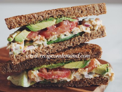 ChickPea Vegetable Sandwich