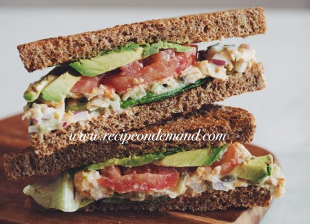 breakfast recipes, vegetarian recipes, ChickPea Vegetable Sandwich