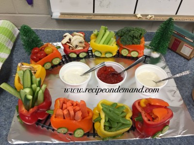 Salad basket tray decoration