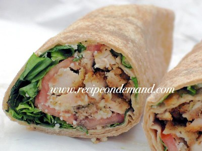 Chicken Ceasor Salad Wraps
