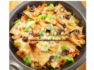 Spicy Chicken Cheesy Nachos