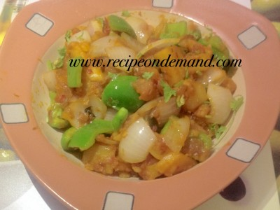 Potato And Capsicum Curry