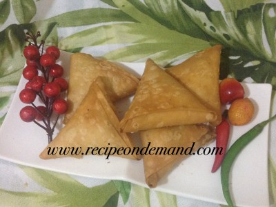 Vegetable Egg Samosa
